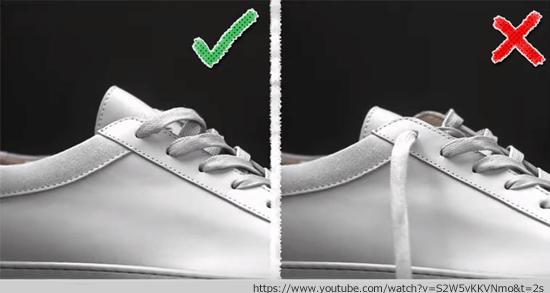 スニーカーの紐を隠すスマートな方法4つ