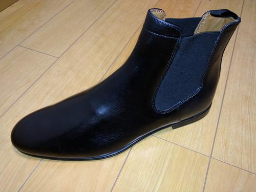 「STEFANO ROSSI」( ステファノロッシ ) 黒 サイドゴアブーツ