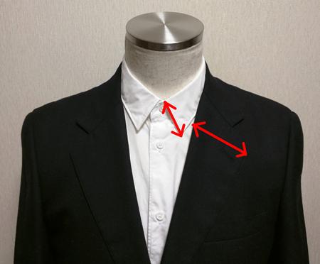 シャツの襟とジャケットのラペルの相性(1)