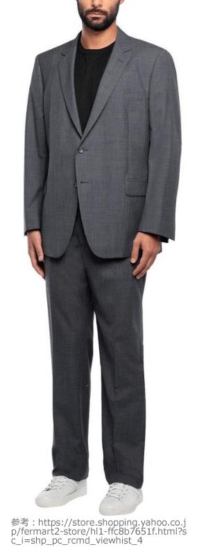 ブルックス ブラザーズ(brooks brothers )スーツのアンタイドスタイルの例
